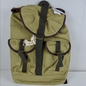 Tommy Bahama La Jolla Canvas Leather Backpack NWT